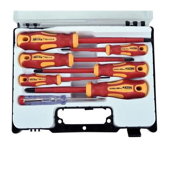 d3a8006bcecca Sada skrutkovačov pre elektrikárov so skúšačkou 7ks